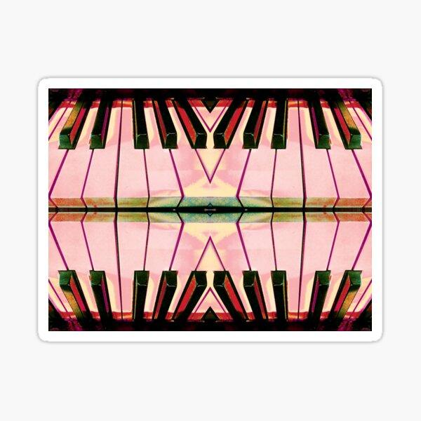 Hot Pink Hypnotic Kaleidoscope by Jerald Simon (Music Motivation) - musicmotivation.com Sticker