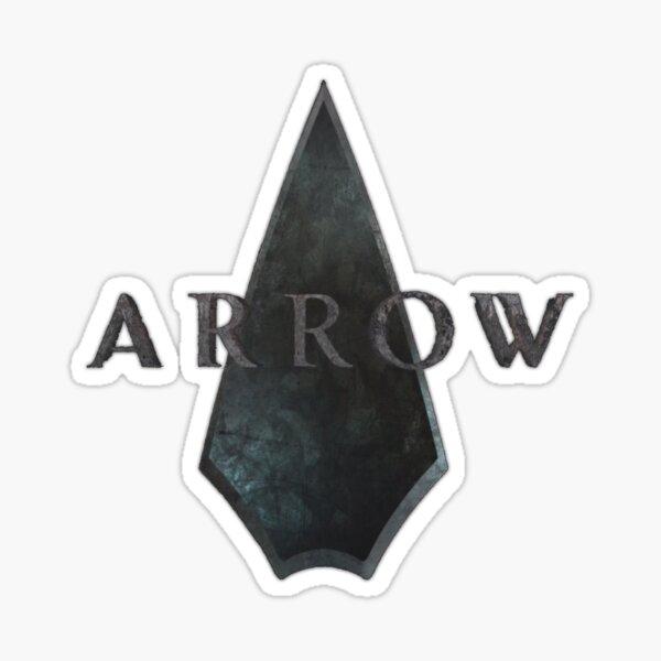 Logotipo de flecha, hasta que lanzan merchandising oficial. Pegatina