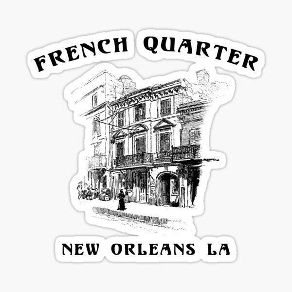 Mardi Gras French Quarter New Orleans Sticker