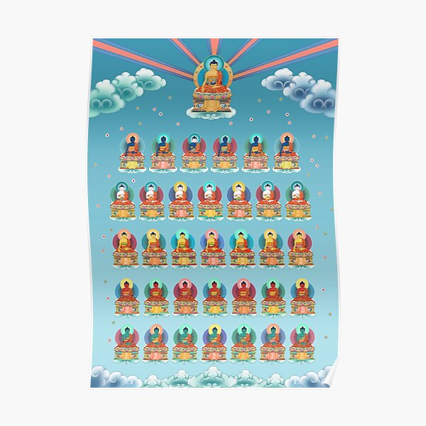 35 Buddhas of Confession Poster