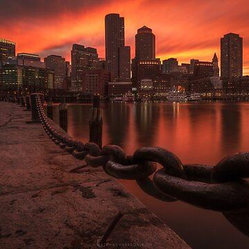Sunset from Fan Pier, Boston by mattmacpherson