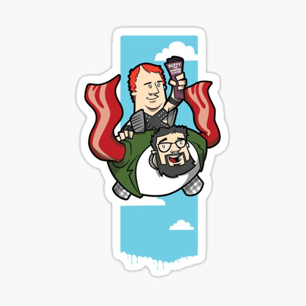 Smith And The Buffy Man On Wings of Swine Sticker