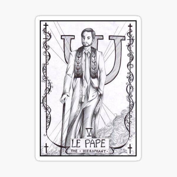 Hannibal tarots - Le pape Sticker