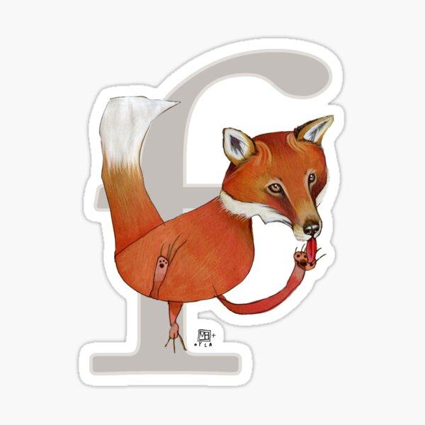 F is for FOX Sticker