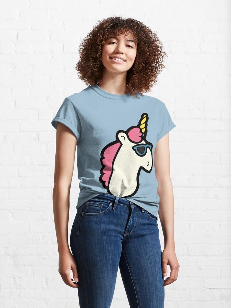 Alternate view of Unicorns Are Cool Pattern - Multi Classic T-Shirt