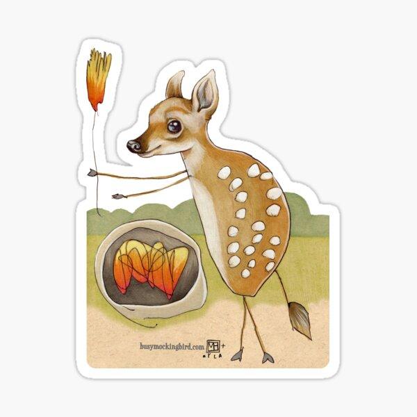 Camping Deer Sticker
