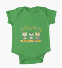 Cute singing kittens One Piece - Short Sleeve