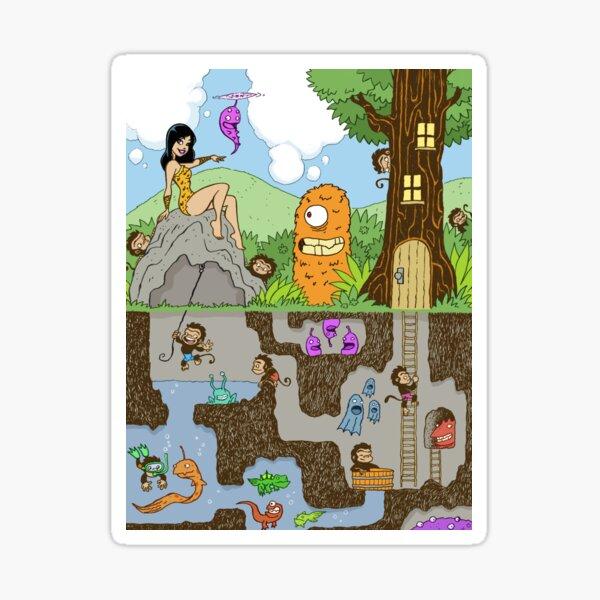 Furkini Atoll Forest Sticker