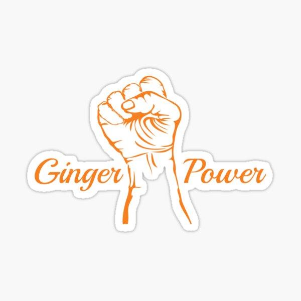Ginger Power Sticker
