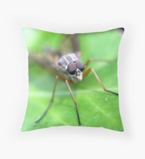 Fly On Ivy Leaf Throw Pillow