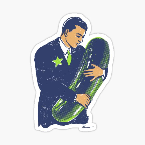 Hold The Pickle - American Oddities #3 Sticker
