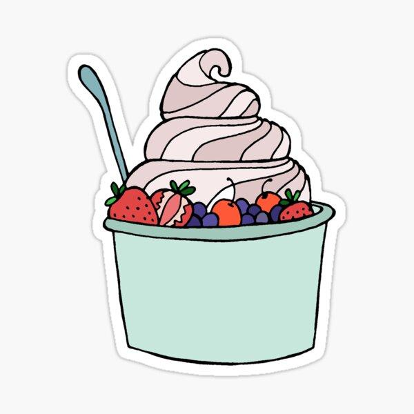 Frozen Yogurt Sticker