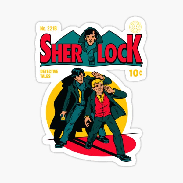 Sherlock Comic Sticker
