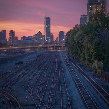 Allston sunrise, Boston by mattmacpherson