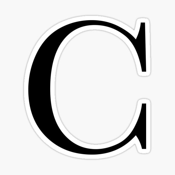 The Letter 'C' Sticker