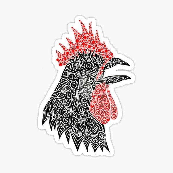Cock-A-Doodle Sticker