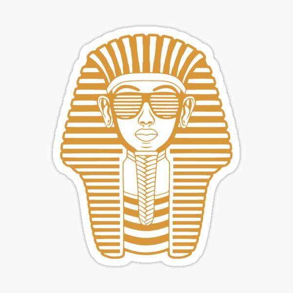 King Tut Egypt Pharaoh Shutter Shades Sticker
