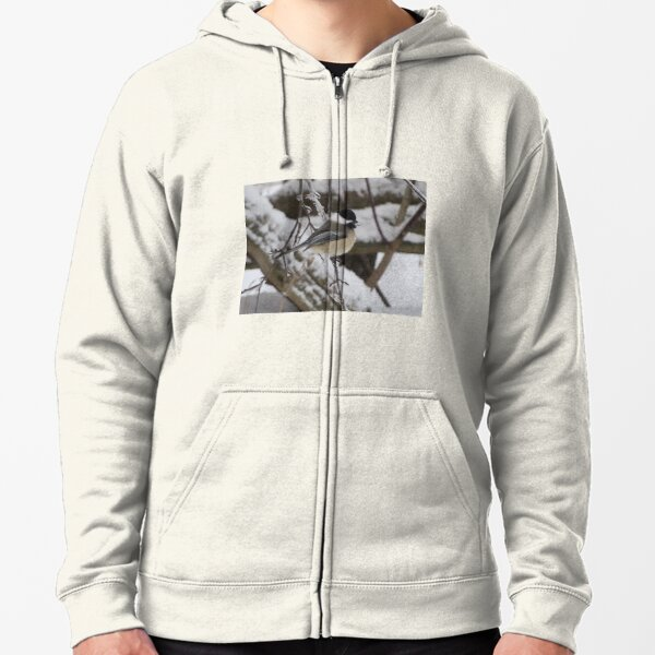 Winter Chickadee Zipped Hoodie