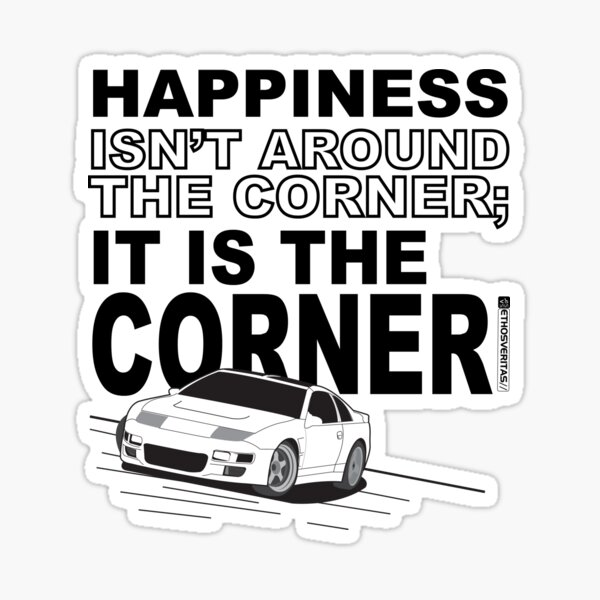 Happiness is the Corner Sticker