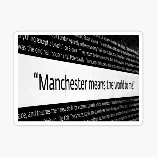 Manchester means the world to me Sticker