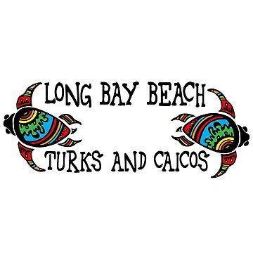 Turks and Caicos turtles - Long Bay Beach by RBBeachDesigns