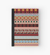Floral Knitting Pattern Hardcover Journal