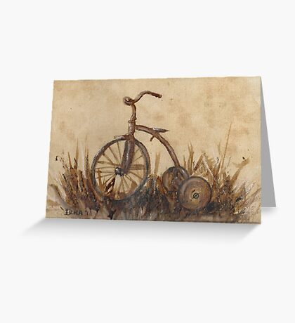 The Old Trike Greeting Card
