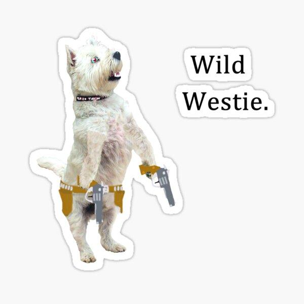 Wild Westie. Sticker