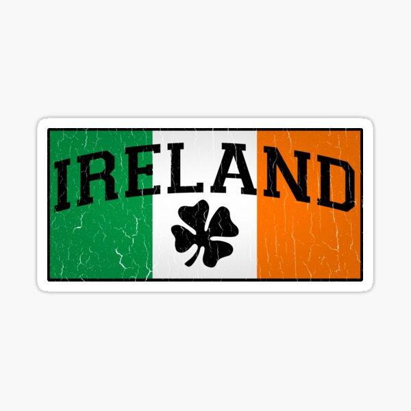 Vintage IRISH Flag (Distressed Design) Sticker