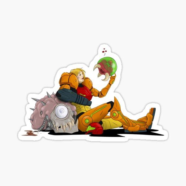 Samus and Baby Metroid Sticker