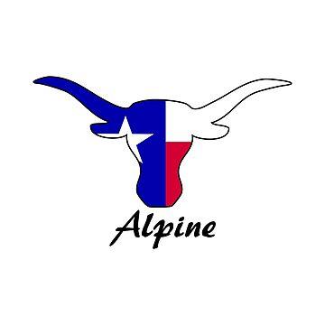 Alpine Texas Longhorn by RBBeachDesigns