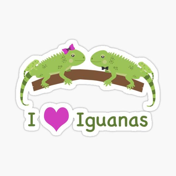 I heart Iguanas Sticker