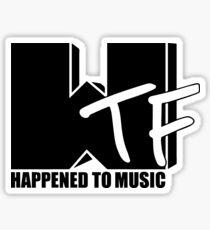 Pegatina WTF sucedió a la música sólida