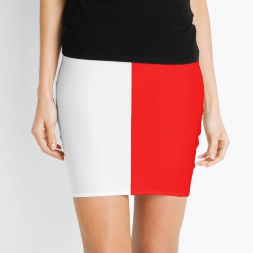 Half Red Half White Mini Skirt Mini Skirt