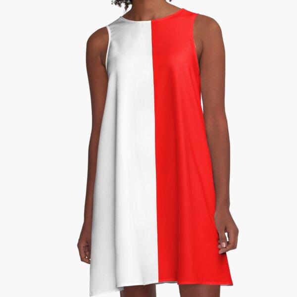 Minifalda Mitad Roja Mitad Blanca Vestido acampanado