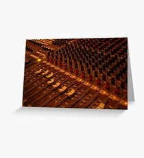 detail of sound mixer Greeting Card