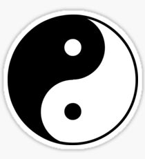 Asian Yin Yang Symbol Sticker