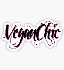 VeganChic ~ Majestic Black Sticker