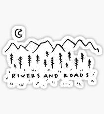 Flüsse und Straßen Sticker