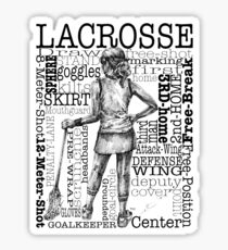 Word Montage-LACROSSE (Female-Border) Sticker