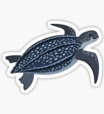 Pegatina Happy Leatherback Sea Turtle