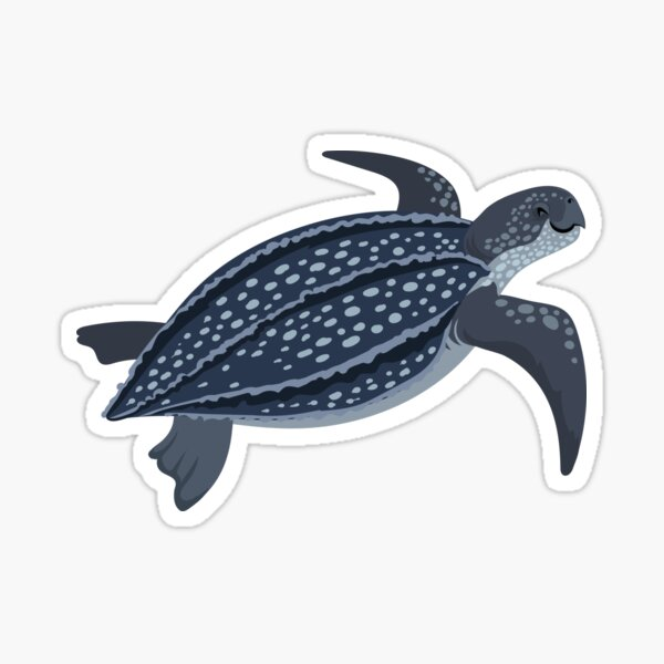 Happy Leatherback Sea Turtle Sticker