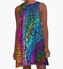 Flower Rainbow Floral A-Line Dress