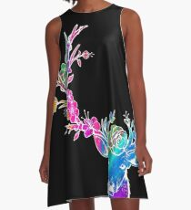 Copy of Flower Rainbow Floral A-Line Dress
