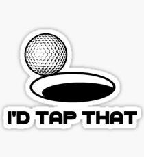 Golf I'd Tap That Sticker