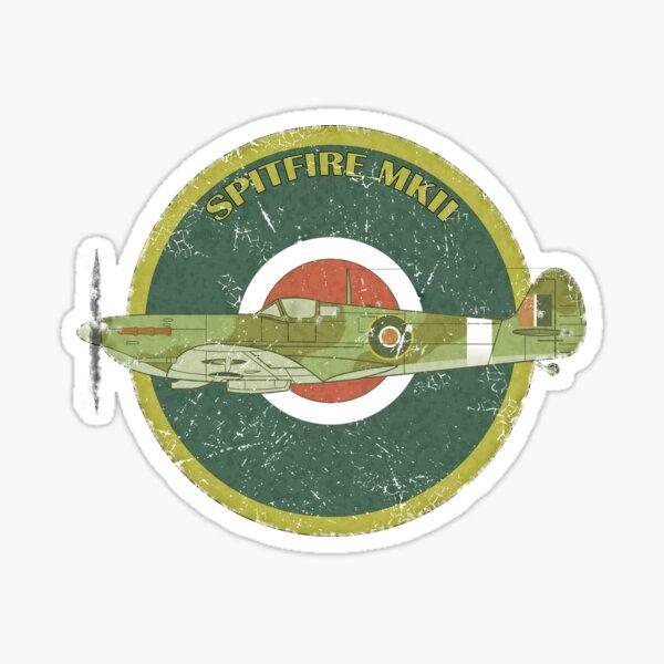 RAF MKII Spitfire Vintage Look Fighter Aircraft Sticker