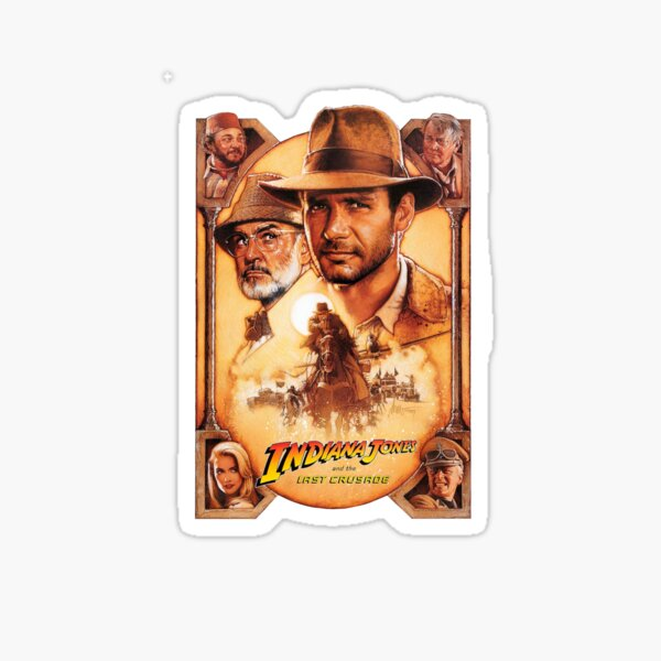 Indiana Jones and The Last Crusade Movie Poster Sticker