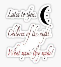 Children of the Night Sticker