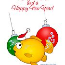 Christmas Goldfish cartoon Merry Fishmas by graphicdoodles
