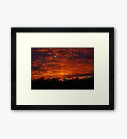 Amazing Sunrise Colors Framed Print